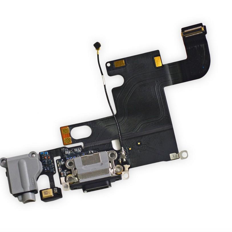Cabo Flex iPhone 6 A1549 A1586 A1589 Conector Carga / P2 / Microfone Cinza
