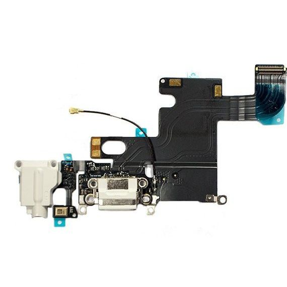 Cabo Flex iPhone 6 Conector Carga / P2 / Microfone Branco
