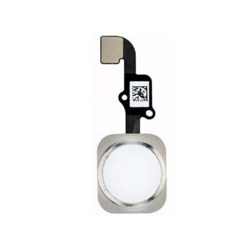 Cabo Flex iPhone 6 Plus A1522 A1524 A1593 Botão Home Prata