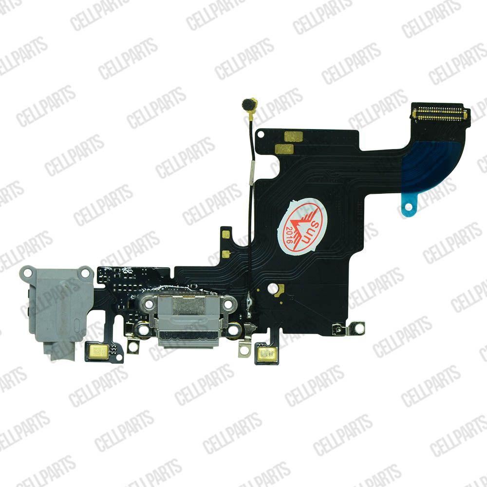 Cabo Flex iPhone 6S Conector Carga e Microfone Cinza