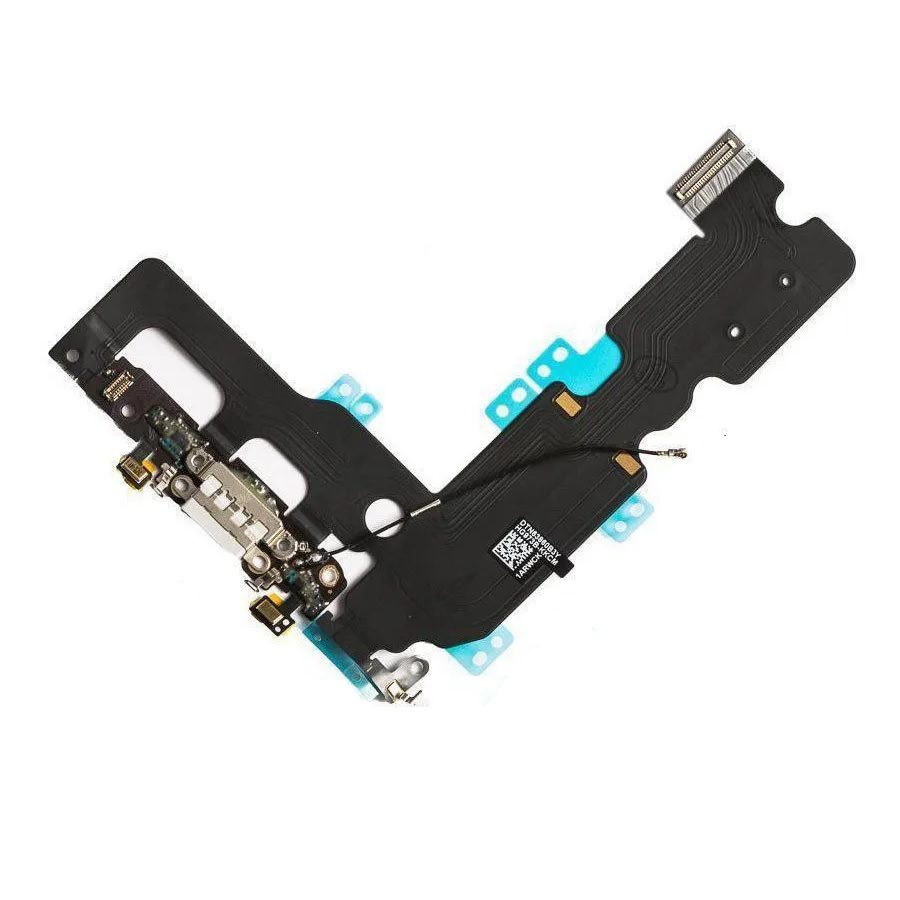 Cabo Flex iPhone 7 Plus Conector Carga Branco e Microfone