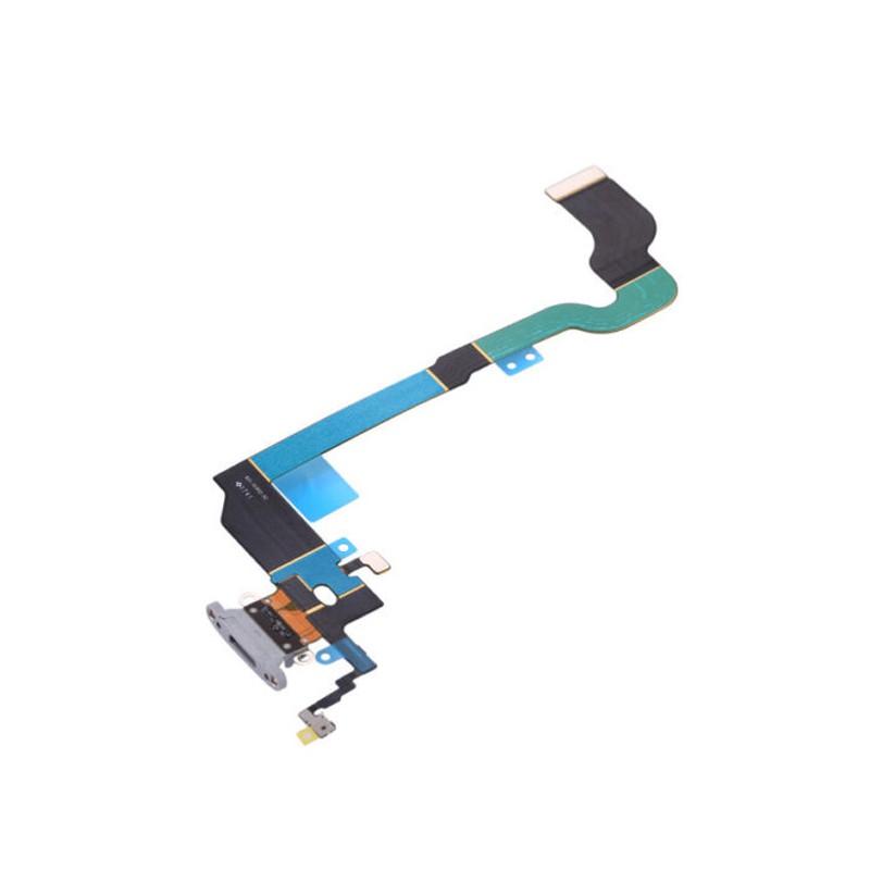 Cabo Flex Iphone X A1865 A1901 A1902 Microfone / Conector Carga Cinza