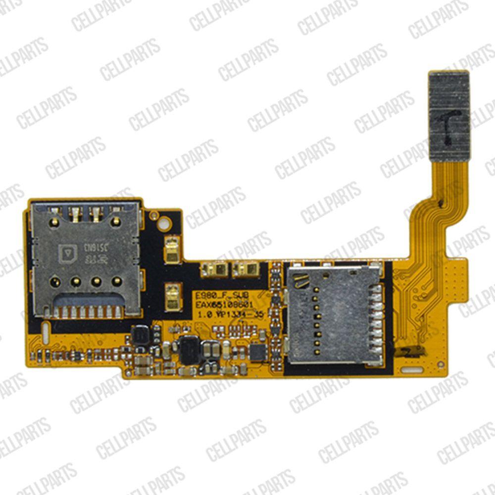Cabo Flex LG E989 Optmus G Pro Leitor Sim Card
