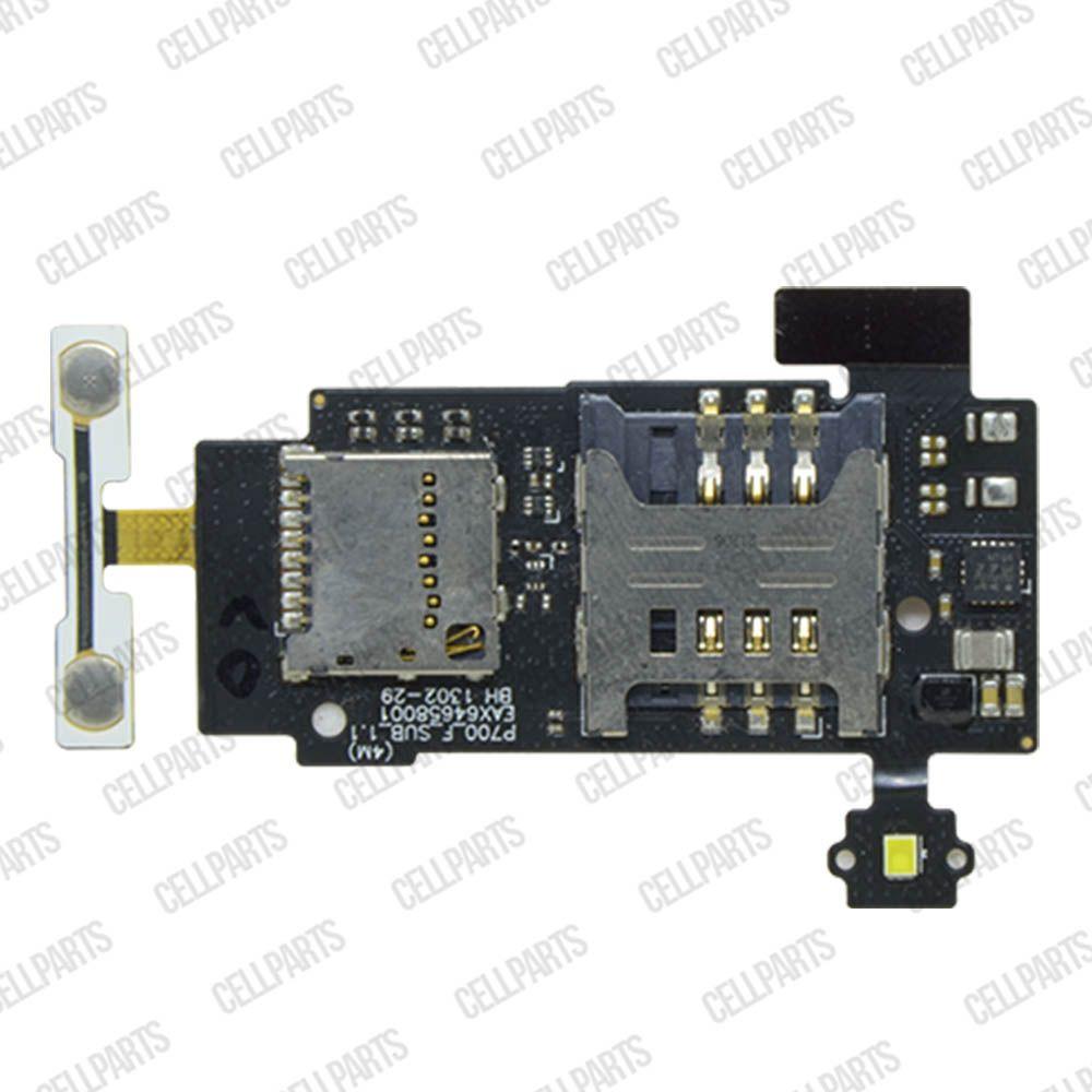 Cabo Flex LG P705 L7 Leitor Sim Card