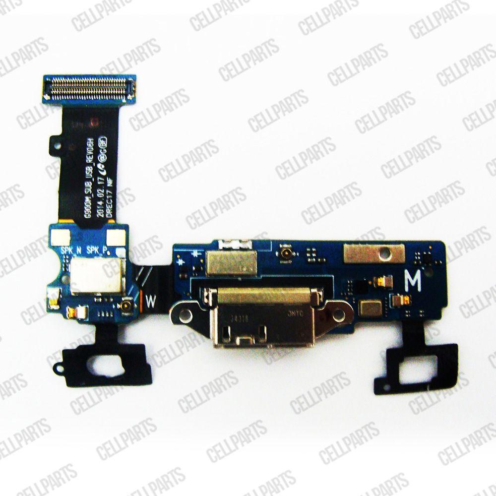 Cabo Flex Samsung G900 S5 Conector Carga e Microfone Versão H