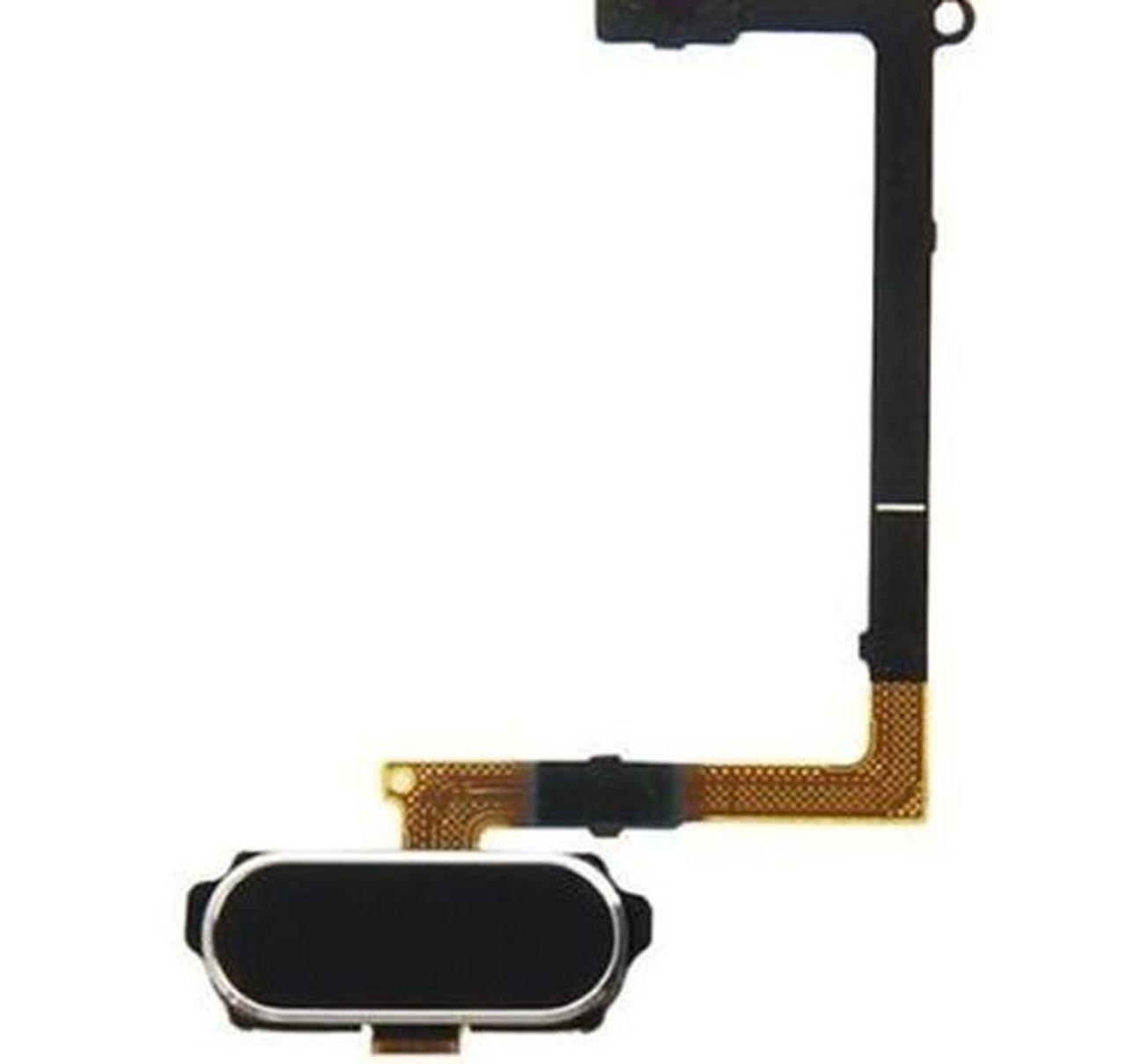 Cabo Flex Samsung G925 S6 Edge Botão Menu Home Preto