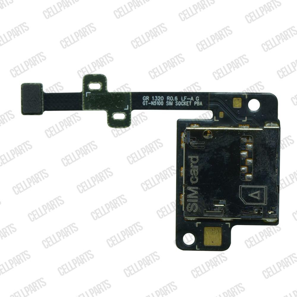 Cabo Flex Samsung N5100 N5110 Leitor Sim Card