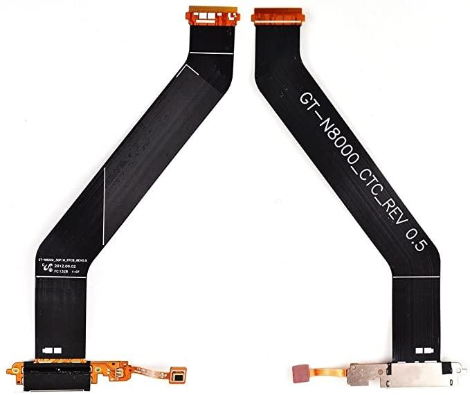 Cabo Flex Samsung N8000 Note 10 Conector Carga e Microfone