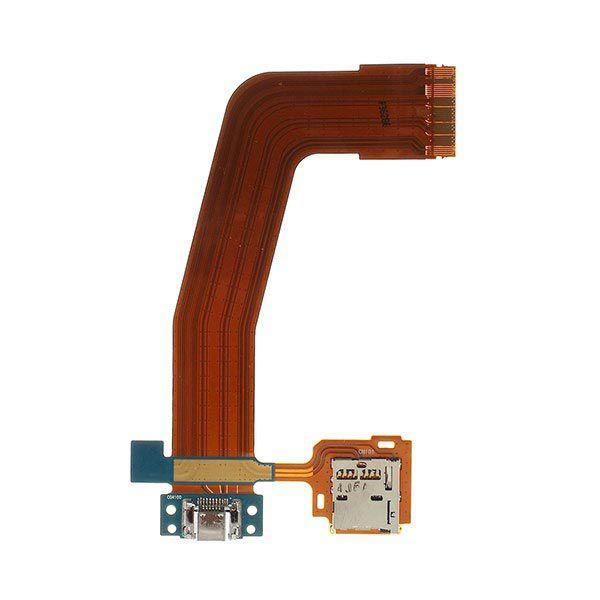 Cabo Flex Samsung T800 T801 T805 Conector Carga e Leitor Sim Card