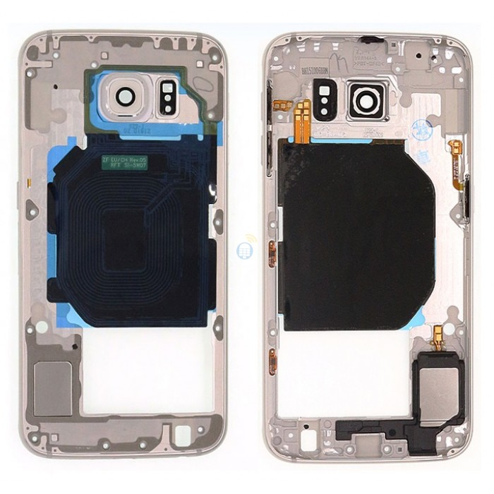 Carcaça Aro Lateral Samsung S6 G920 Prata