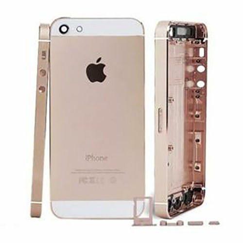 Carcaça Iphone 5 A1428 A1429 A1442 Dourada c/ Flex