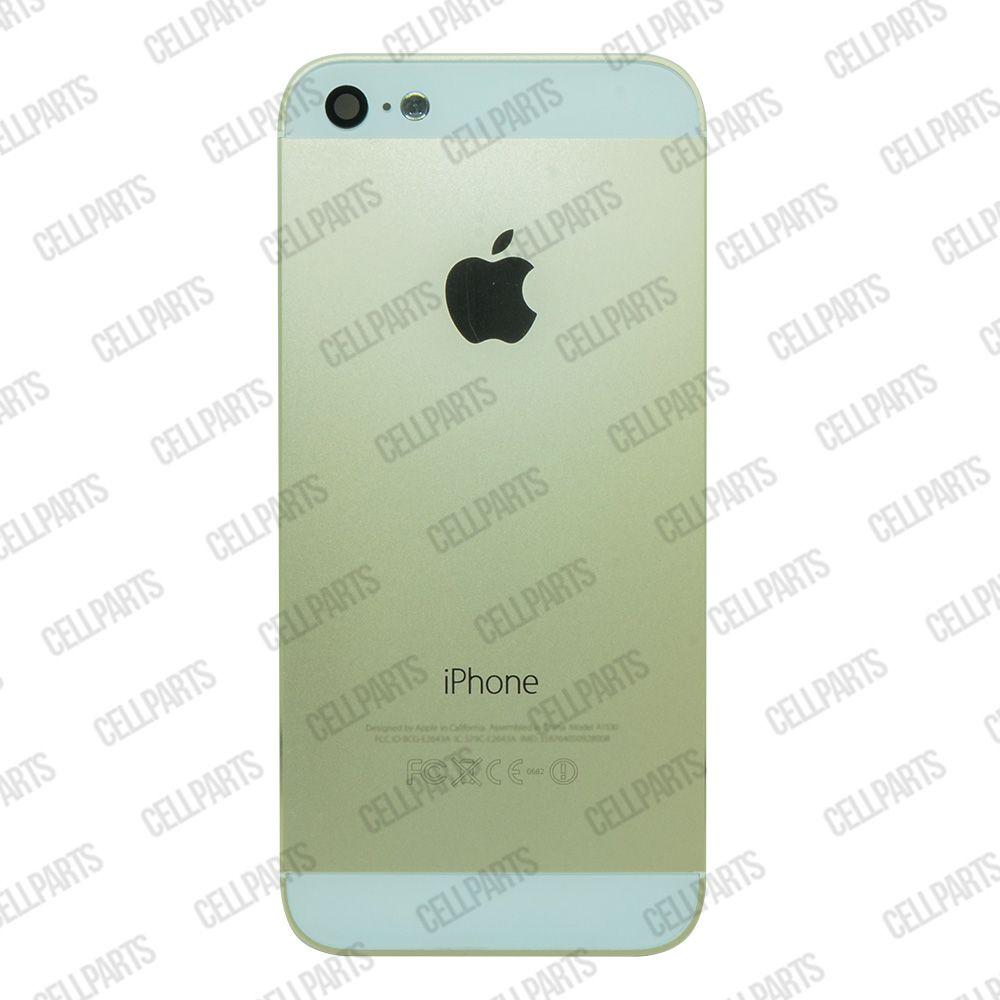 Carcaça iPhone 5G Dourada c/ Botões e Bandeja de Sim Card