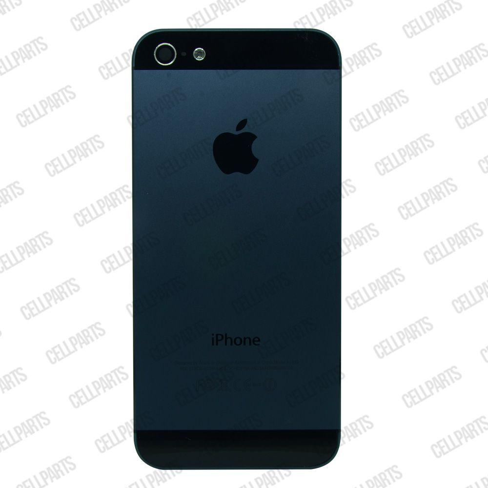 Carcaça iPhone 5G Grafite c/ Botões e Bandeja de Sim Card