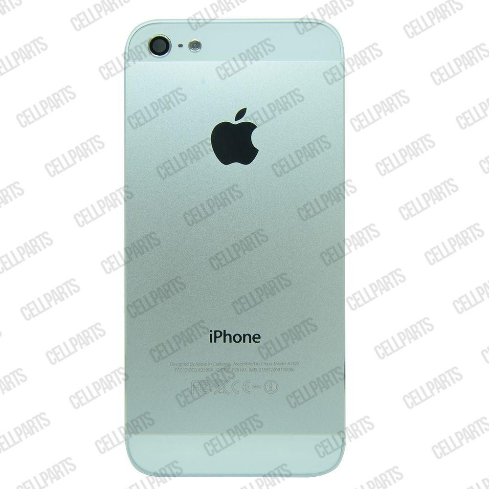 Carcaça iPhone 5G Prata c/ Botões e Bandeja de Sim Card