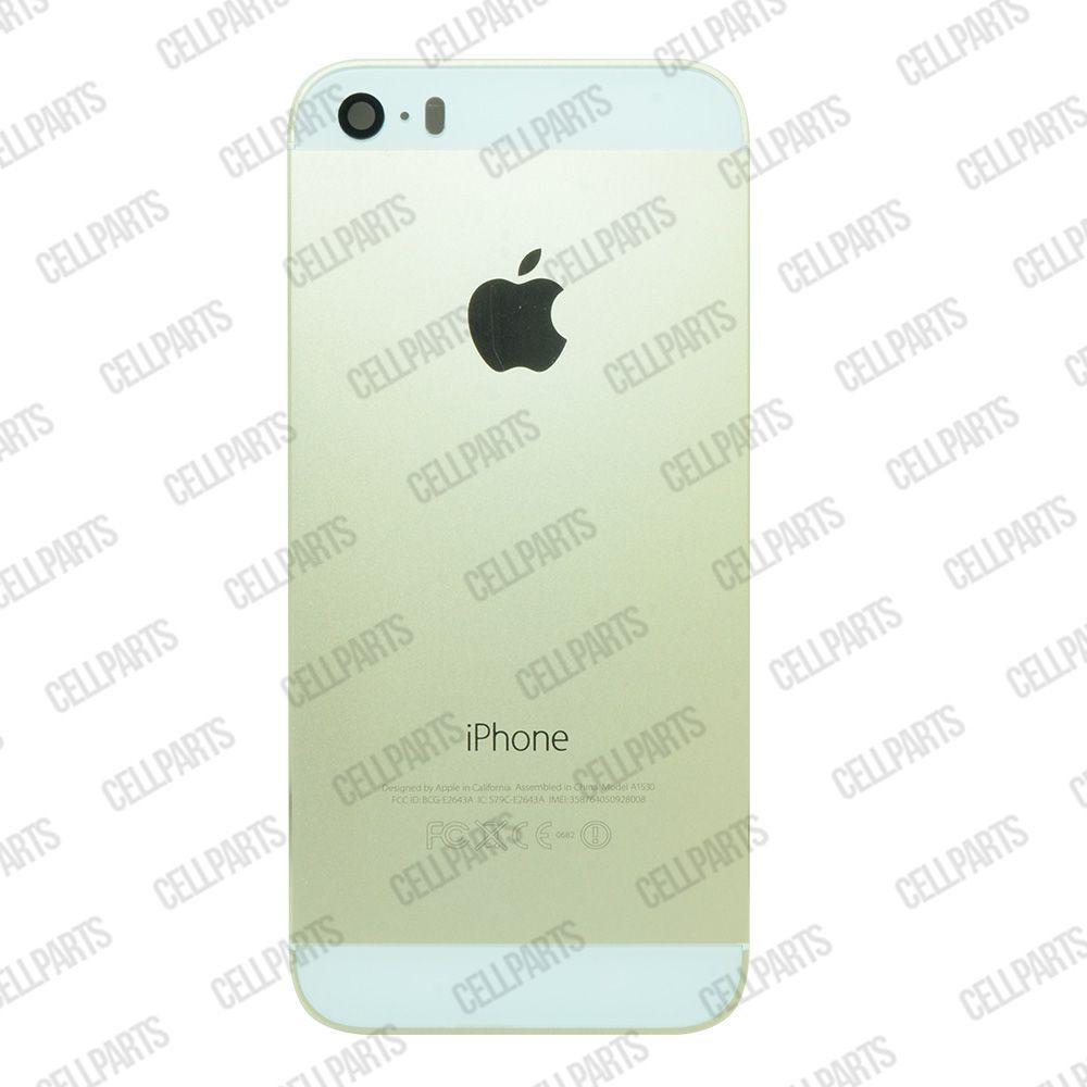 Carcaça iPhone 5S Dourada c/ Botões e Bandeja de Sim Card