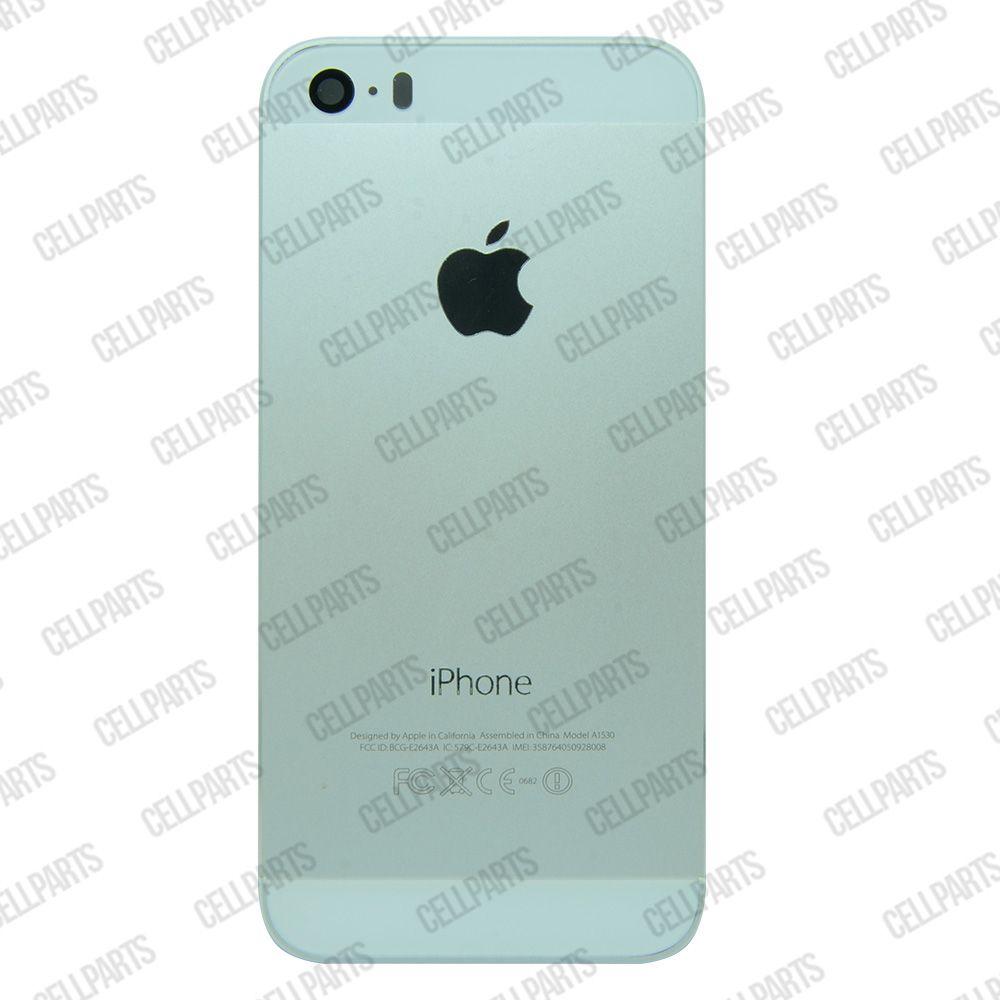 Carcaça iPhone 5S Prata c/ Botões e Bandeja de Sim Card