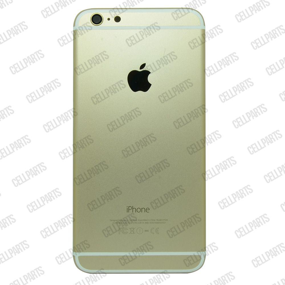 Carcaça iPhone 6 Plus Dourada c/ Botões e Bandeja de Sim Card