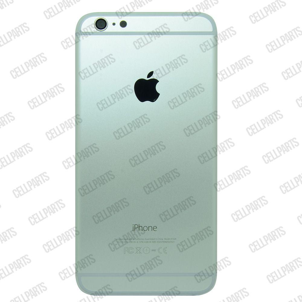 Carcaça iPhone 6 Plus Prata c/ Botões e Bandeja de Sim Card