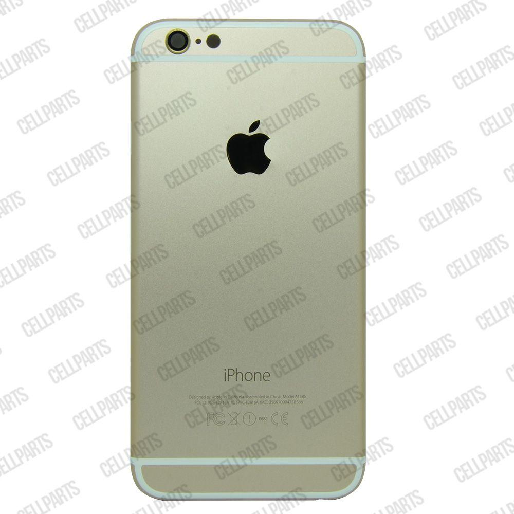 Carcaça iPhone 6G Dourada c/ Botões e Bandeja de Sim Card