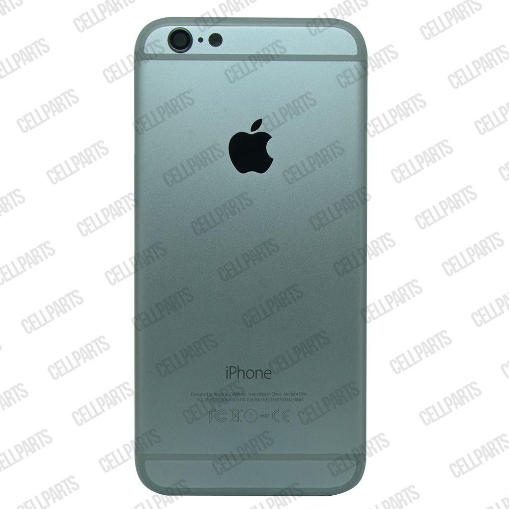 Carcaça iPhone 6G Grafite c/ Botões e Bandeja de Sim Card