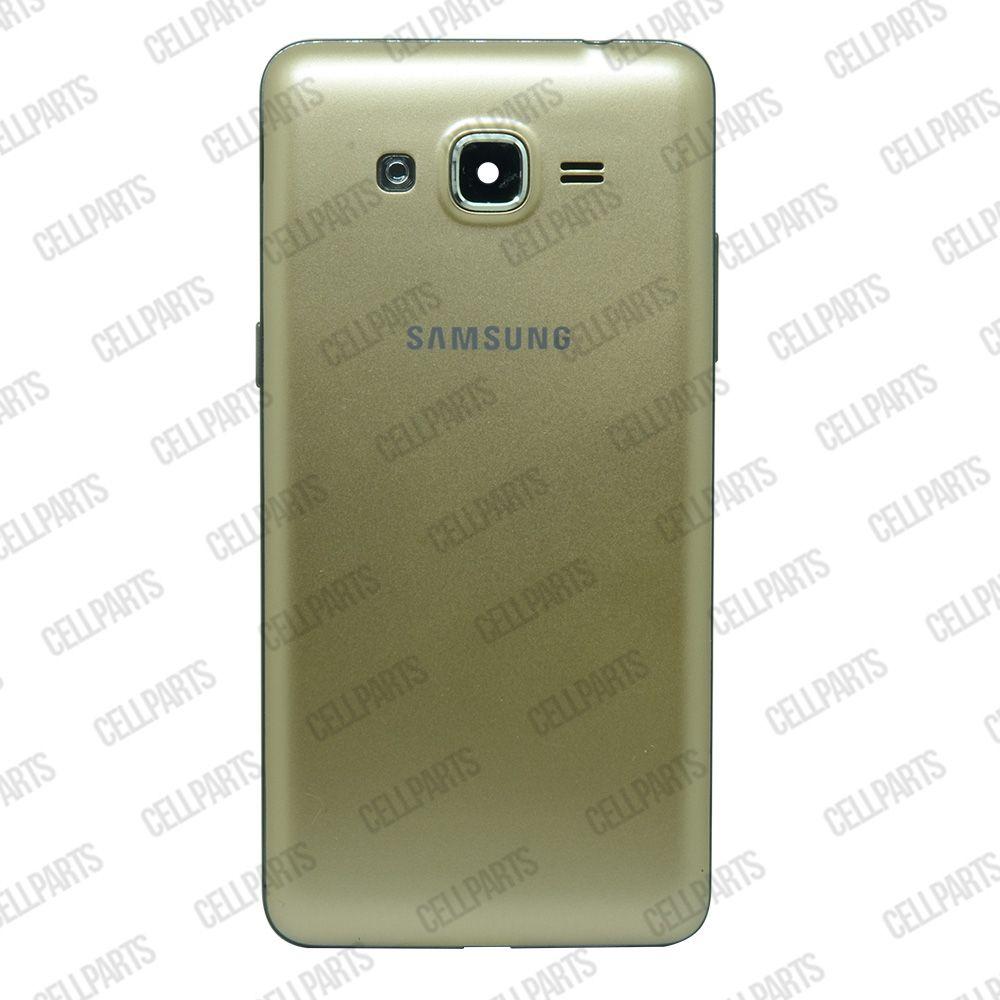 Carcaça Samsung G530 BT c/ Botões Laterais Dourada