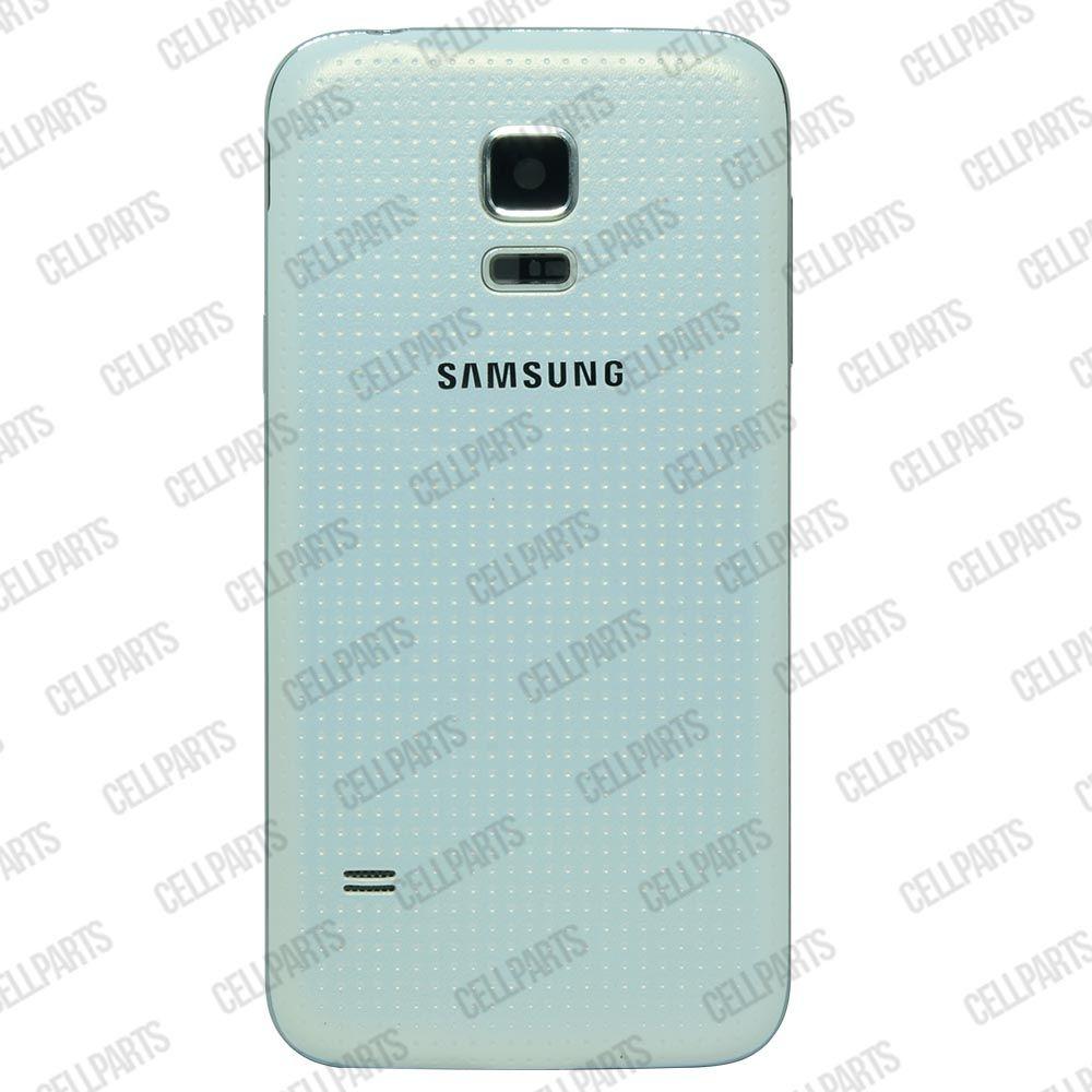 Carcaça Samsung G800 S5 Mini c/ Alto Falante, Vibracall Conector Fone P2 Branca