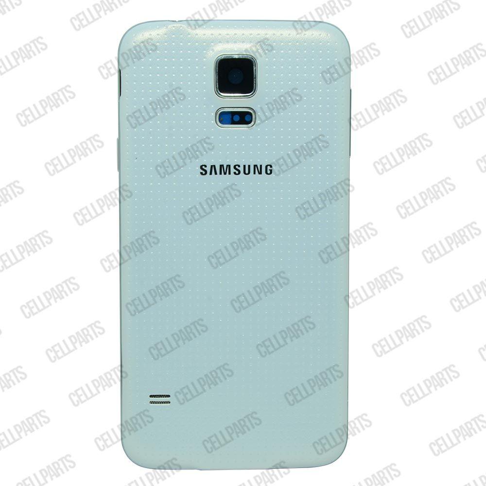 Carcaça Samsung G900 S5 c/ Alto Falante e Botões Laterais Branca