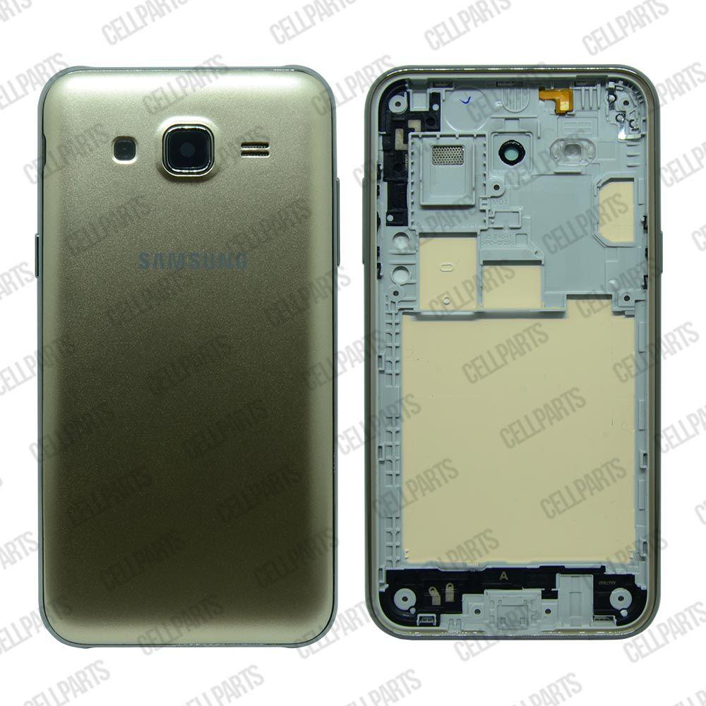 Carcaça Samsung J500M-DS J500 c/ Botões Laterais Dourada