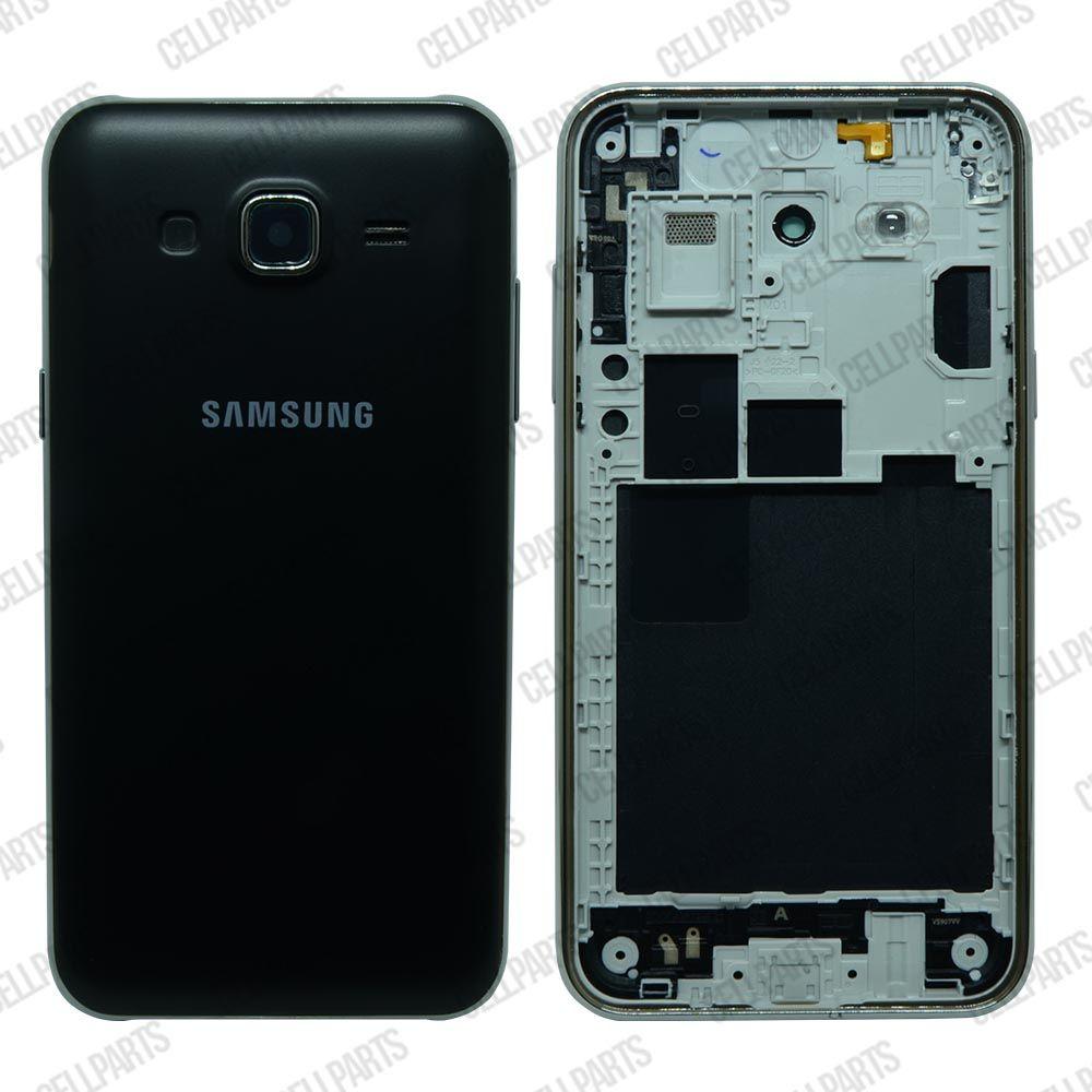 Carcaça Samsung J500M-DS J500 c/ Botões Laterais Preta
