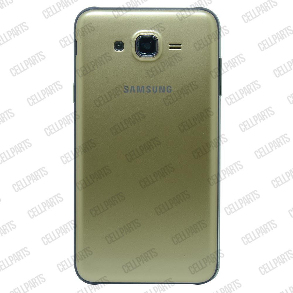 Carcaça Samsung J700 c/ Botões Laterais Dourada