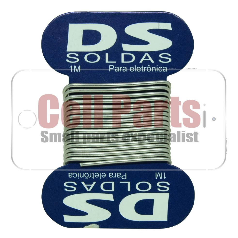 Estanho de Solda em Cartela DS Tools 60x40 1.0mm - 1m