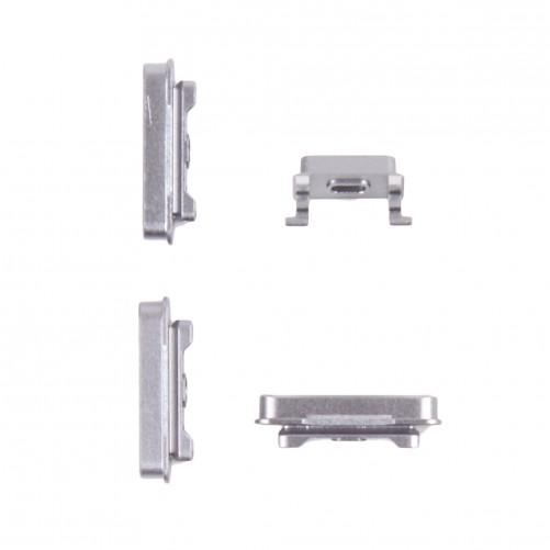 Kit Botao Externo Power + volume + mute Iphone 6 Plus Prata