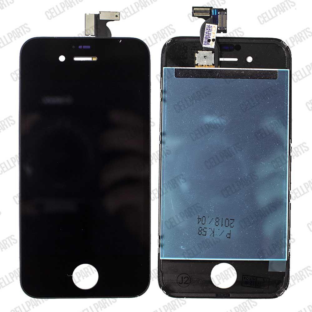 new product 568de 1e5ed LCD iPhone 4S A1431 A1387 Preto