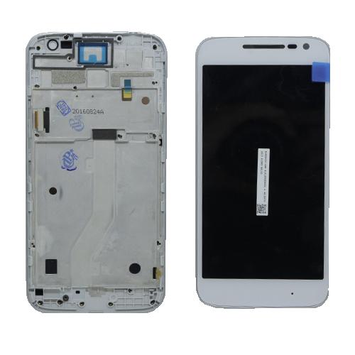 LCD Motorola Moto G4 Play XT1600 C/ Aro Branco