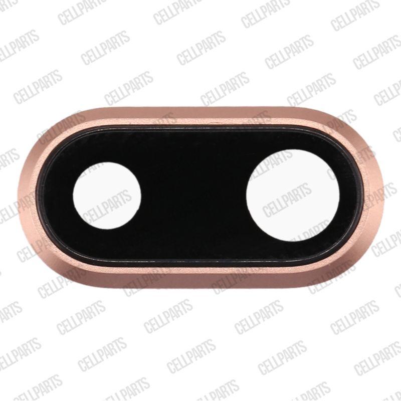 Lente Camera c/ Moldura e adesivo Iphone 8 Plus Dourado