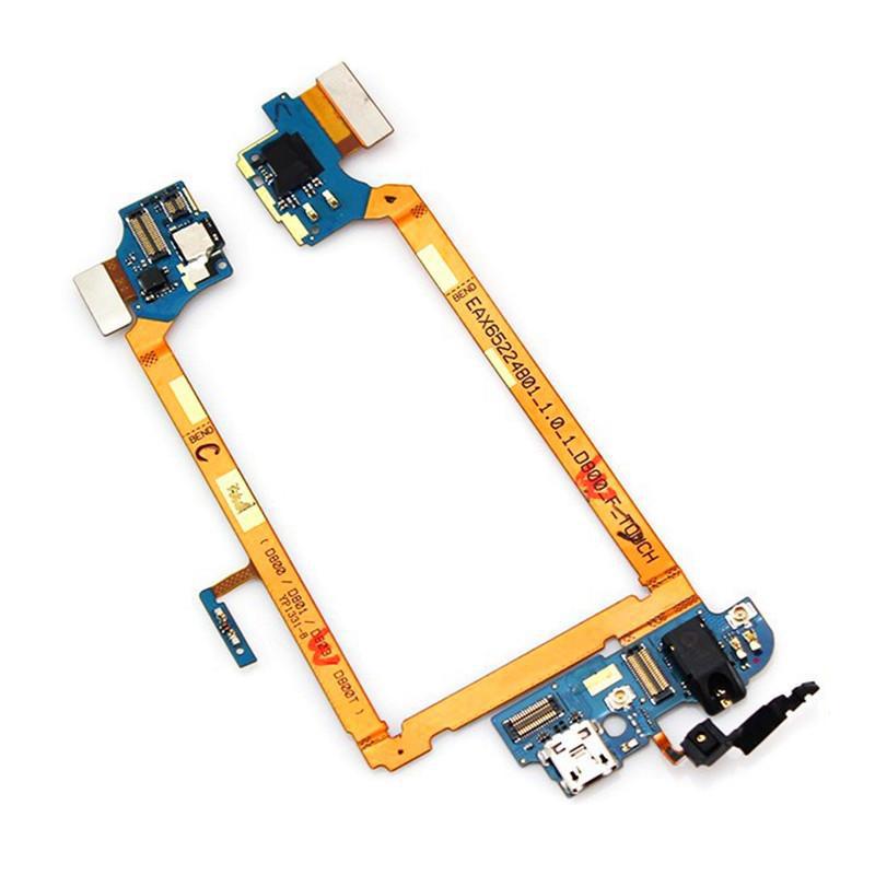 Placa Conector Carga / Microfone / Fone P2 LG G2 D802 D805