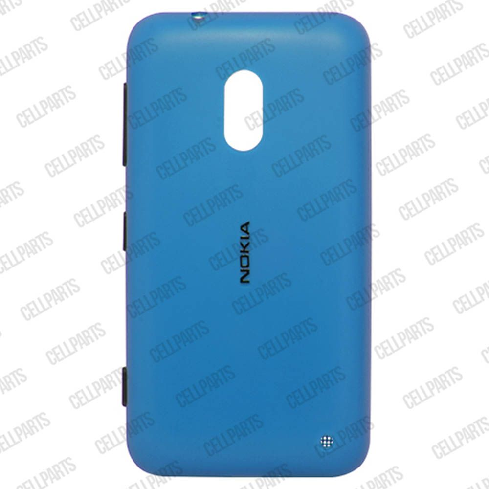 Tampa Traseira Nokia Lumia 620 Azul com Botoes Laterais