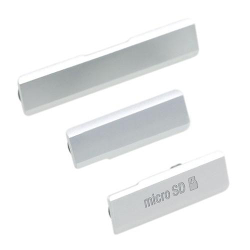 Tampa Vedação Lateral Micro USB Sony Xperia Z1 C6943 Branco