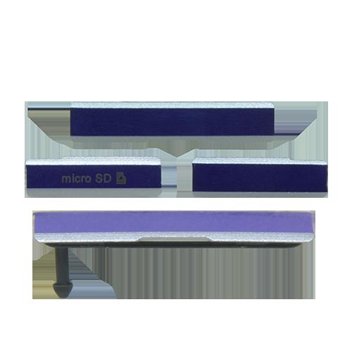 Vedação Lateral Micro USB Sony Xperia Z1 Roxa