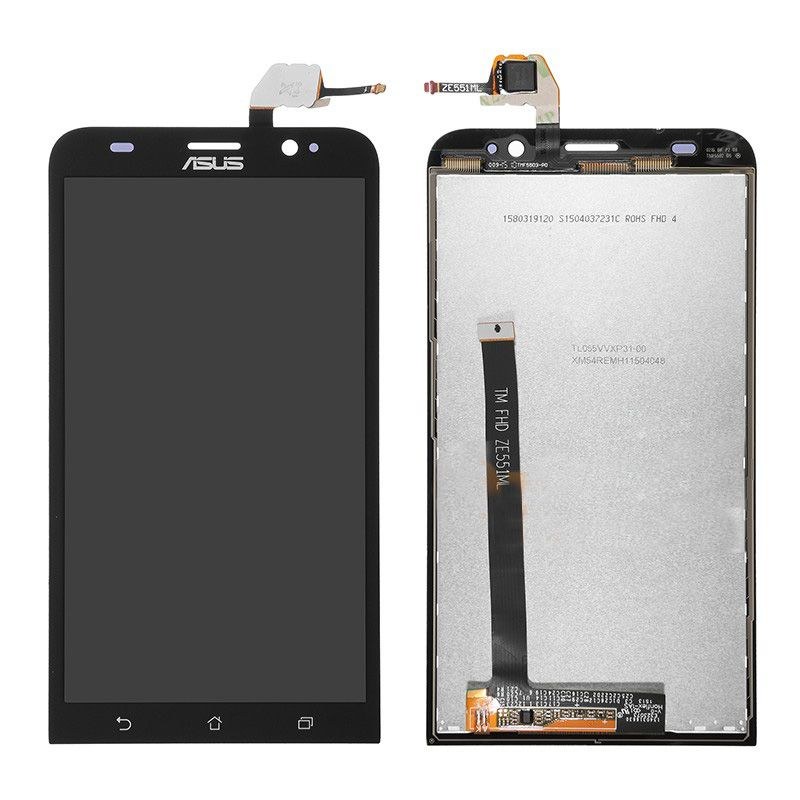 Tela Frontal Asus Zenfone 2 ZE551ML Z00AD Preto
