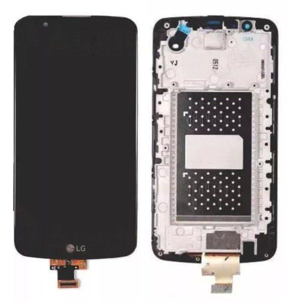 Tela Frontal LG K10 K430 c/ Escrita c/ Ci c/ aro Preto