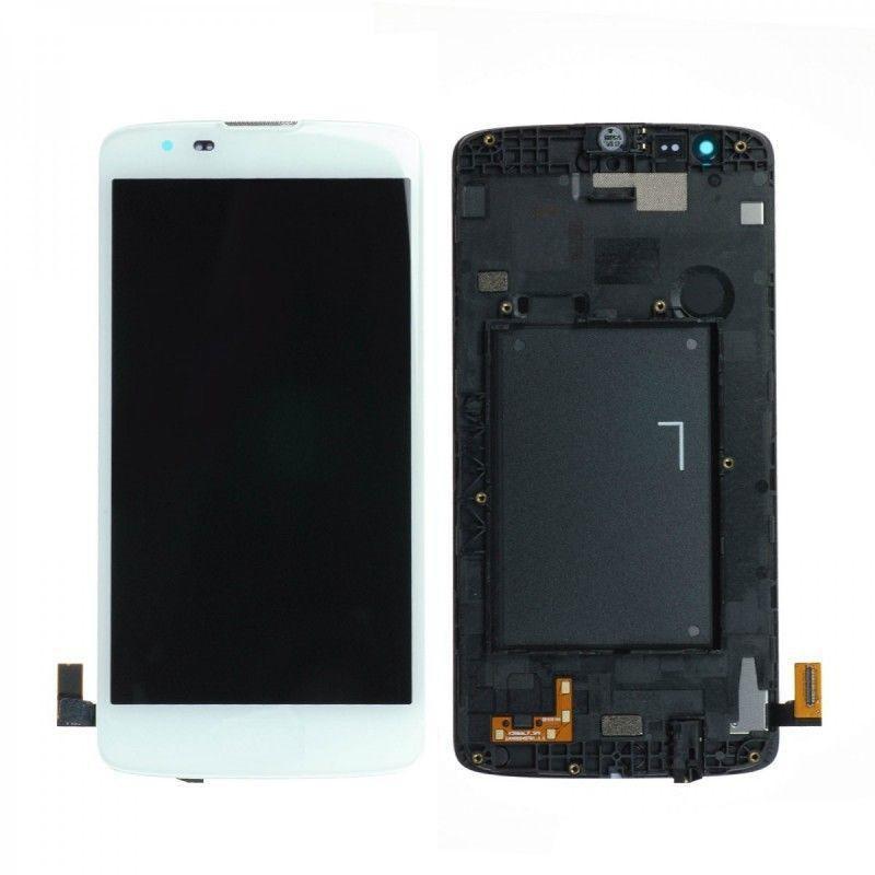 Tela Frontal LG K8 K350 c/ aro Branco