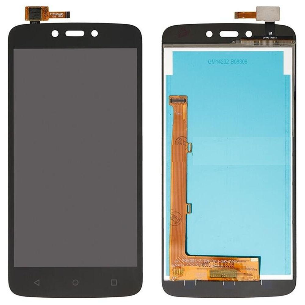 Tela Frontal Motorola Moto C Plus XT1724 XT1726 Preto
