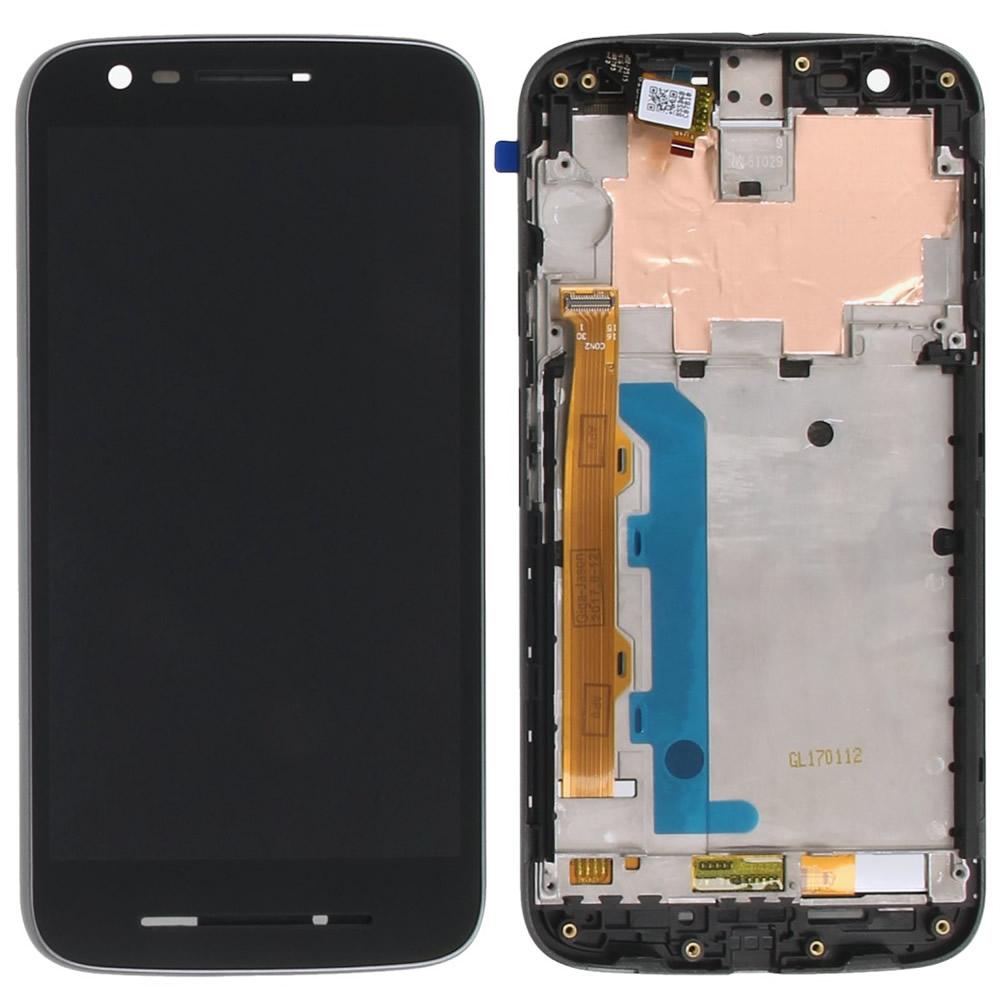 Tela Frontal Motorola Moto E3 XT1700 c/ Aro Preto