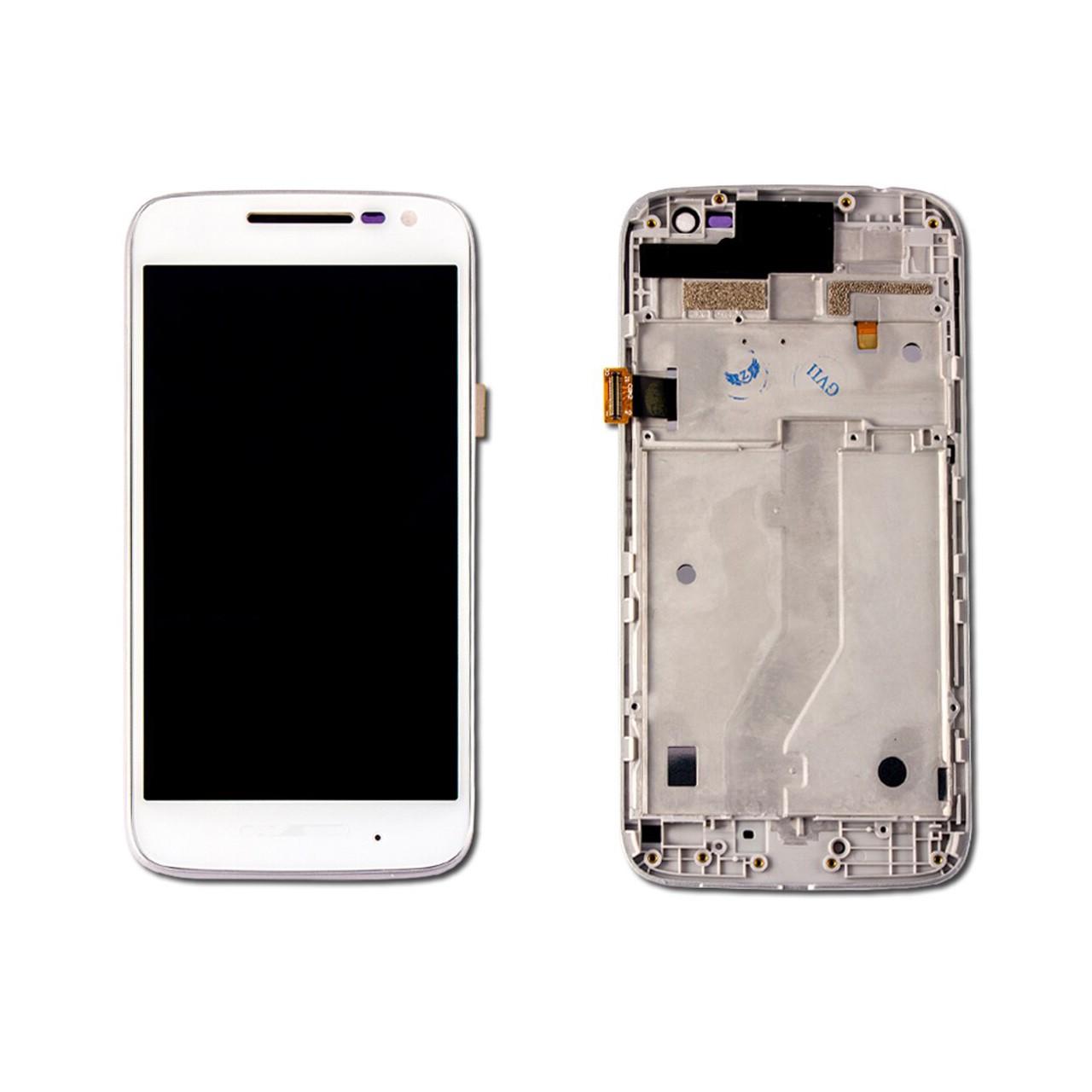 Tela Frontal Motorola Moto G4 Play XT1600 XT1603 C/ Aro Branco
