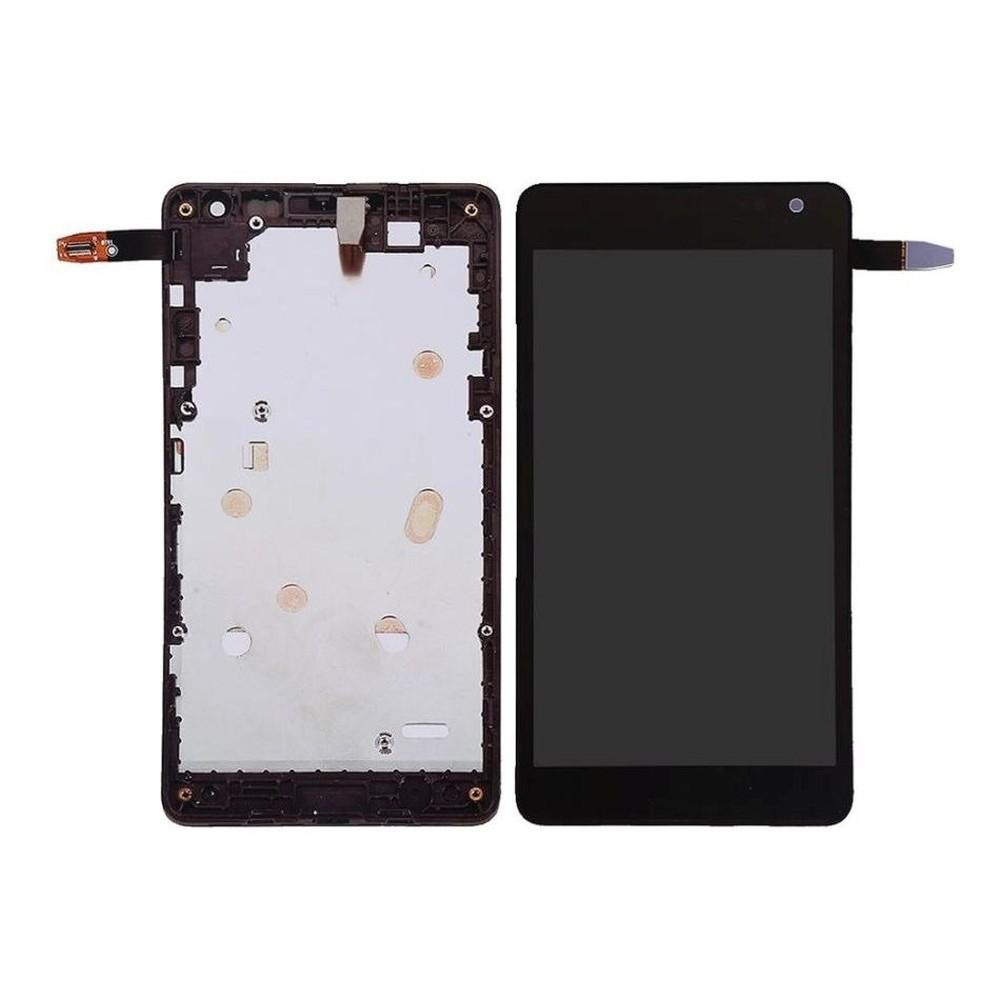 Tela Frontal Nokia Lumia 535 RM1092 c/ aro Preto