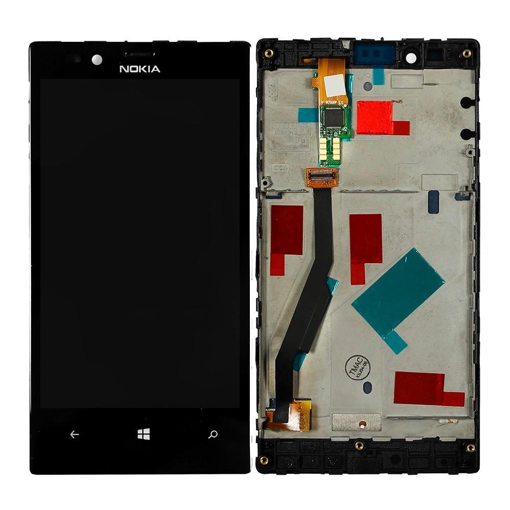 Tela Frontal Nokia Lumia 720 RM885 c/ aro Preto
