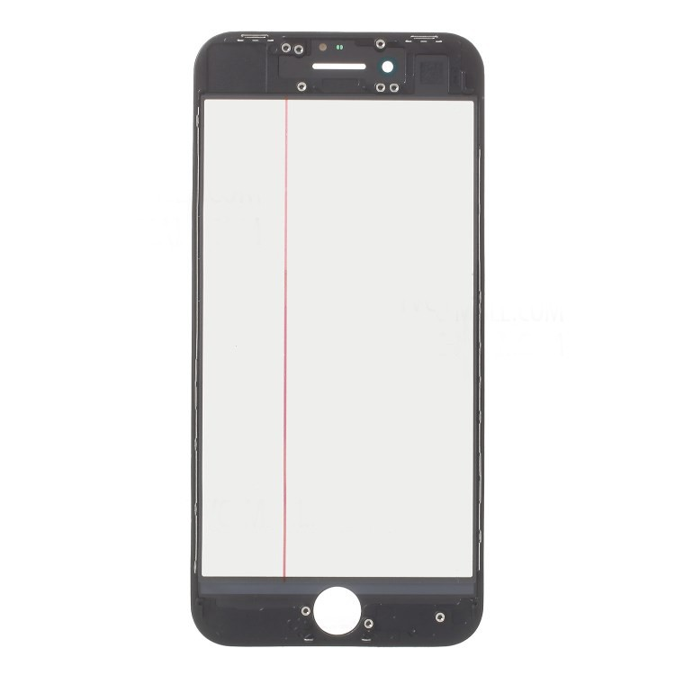Tela Vidro Iphone 8 A1863 A1905 A1906 Preto c/ Frame