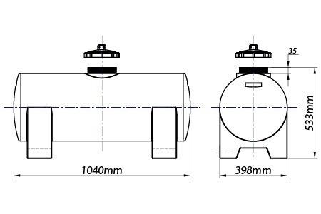 Tanque De 125 Litros Para Gerador Completo Com Mangueira  - WebPlástico