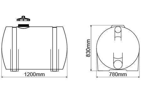 Tanque 500litros P/ Gerador Completo C/ Pescador E Mangueira  - WebPlástico